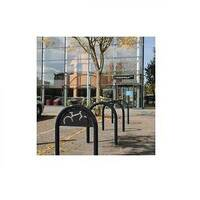 Sheffield Style Cycle Rack With Sign Black