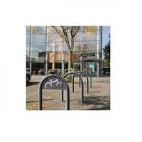 Sheffield Style Cycle Rack With Sign Grey
