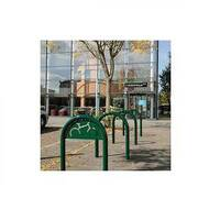 Sheffield Style Cycle Rack With Sign Green