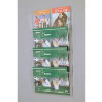 Wall Mounted Waterfall Modular Leaflet Dispenser Pocket Size A4 Landscape