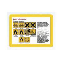 Self-Adhesive Document Frame A4 Self-Adhesive Yellow Pack of 10